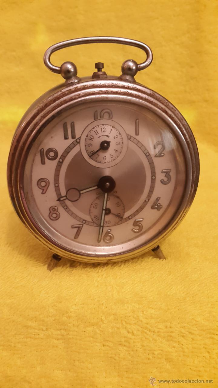 RELOJ DESPERTADOR OBAYARDO MADE IN SPAIN AÑOS 60 (Relojes - Relojes Despertadores)