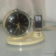 Despertadores antiguos: RELOJ DESPERTADOR CON CALENDARIO. Lote 86088688