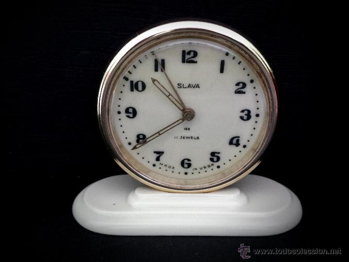 RELOJ DESPERTADOR RUSO MECANICO SLAVA DE 1966 (Relojes - Relojes Despertadores)