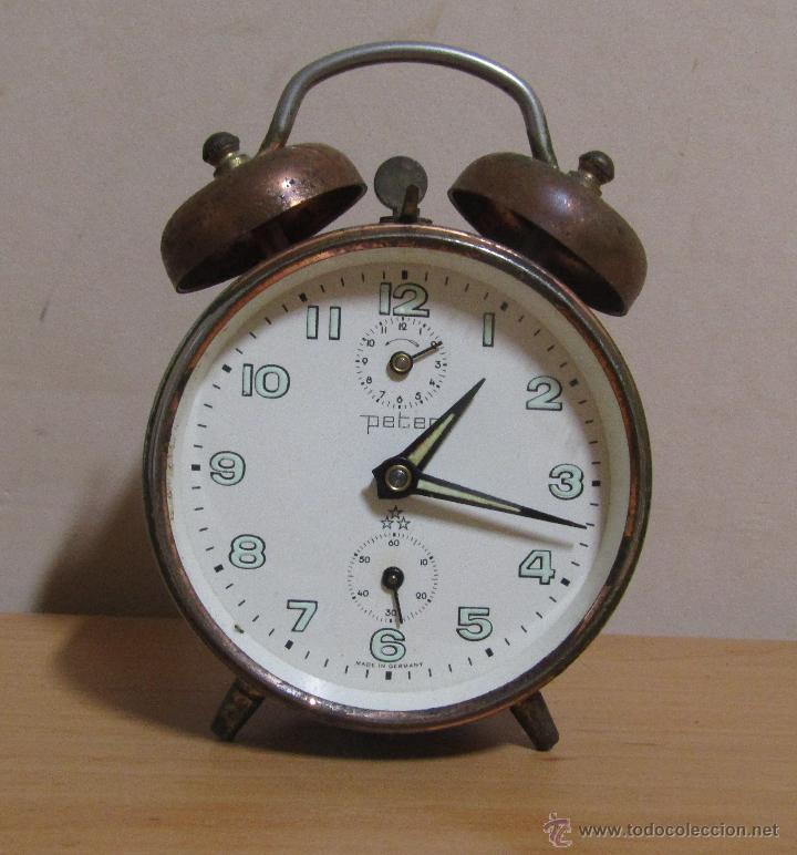 Peter reloj despertador de cuerda antiguo made comprar for Relojes de pared antiguos precios