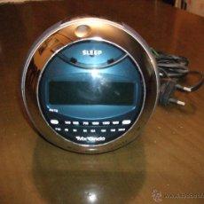Despertadores antiguos: RETRO ORIGINAL RELOJ DESPERTADOR DIGITAL. Y RADIO AM FM . MARCA MX ONDA. FARO DE MOTO ANTIGUA. Lote 54726032