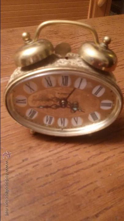 ANTIGUO RELOJ LATON DESPERTADOR ALEMAN BLESSING AÑOS 50 FUNCIONANDO (Relojes - Relojes Despertadores)