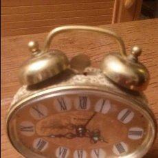 Despertadores antiguos: ANTIGUO RELOJ LATON DESPERTADOR ALEMAN BLESSING AÑOS 50 FUNCIONANDO. Lote 54741453
