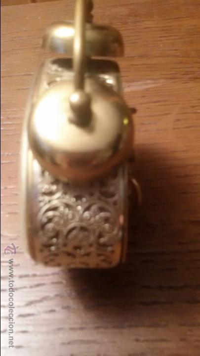 Despertadores antiguos: ANTIGUO RELOJ LATON DESPERTADOR ALEMAN BLESSING AÑOS 50 FUNCIONANDO - Foto 2 - 54741453