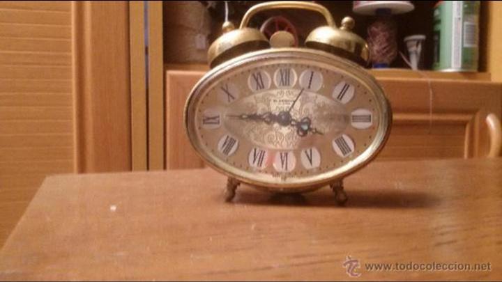 Despertadores antiguos: ANTIGUO RELOJ LATON DESPERTADOR ALEMAN BLESSING AÑOS 50 FUNCIONANDO - Foto 3 - 54741453