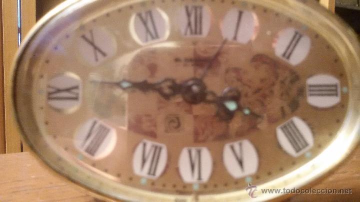 Despertadores antiguos: ANTIGUO RELOJ LATON DESPERTADOR ALEMAN BLESSING AÑOS 50 FUNCIONANDO - Foto 6 - 54741453