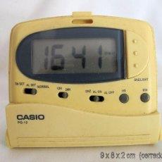 Despertadores antiguos: RELOJ DESPERTADOR VINTAGE CASIO PQ-12 DE VIAJE. Lote 55861044