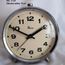 Despertadores antiguos: RELOJ DESPERTADOR ANTIGUO MICRO. Lote 55907386