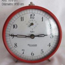 Despertadores antiguos: RELOJ DESPERTADOR ANTIGUO ROSSET ZAFIRO. Lote 55986813