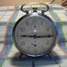 Despertadores antiguos: ANTIGUO DESPERTADOR A CUERDA. AÑOS 60. FUNCIONANDO. (((( TRATADO )))). BUENA CONSERVACION. DESCRIP.. Lote 56091084