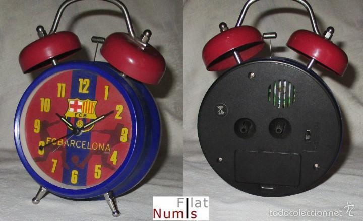 RELOJ DESPERTADOR - F.C. BARCELONA - DOBLE CAMPANA (Relojes - Relojes Despertadores)