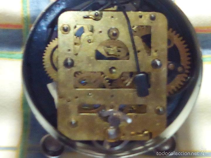 Despertadores antiguos: DESPERTADOR AÑOS 60. FUNC. CORRECTAMENTE, AMBAS CUERDAS, TESTADO AL COMPLETO. DESCRIP. Y FOTOS, - Foto 3 - 56112329
