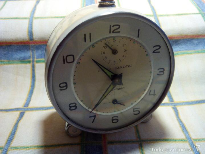 Despertadores antiguos: DESPERTADOR AÑOS 60. FUNC. CORRECTAMENTE, AMBAS CUERDAS, TESTADO AL COMPLETO. DESCRIP. Y FOTOS, - Foto 5 - 56112329
