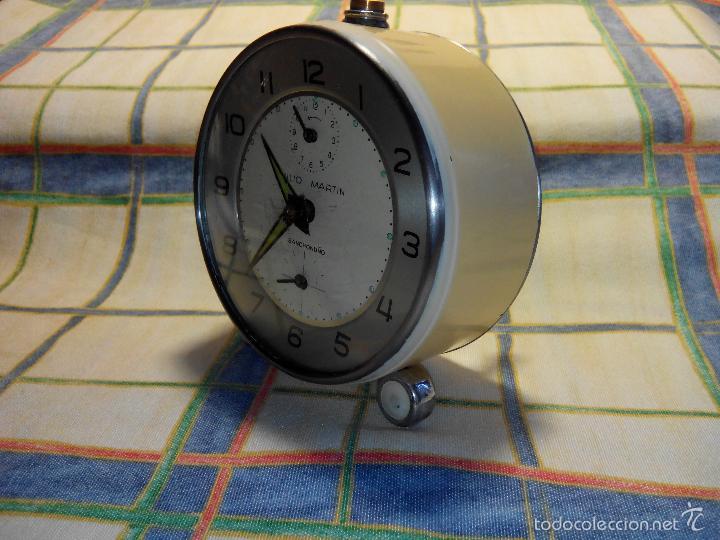 Despertadores antiguos: DESPERTADOR AÑOS 60. FUNC. CORRECTAMENTE, AMBAS CUERDAS, TESTADO AL COMPLETO. DESCRIP. Y FOTOS, - Foto 7 - 56112329
