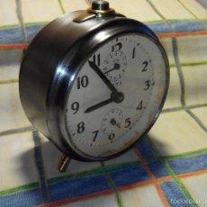 Despertadores antiguos: ANTIGUO DESPER. ESPAÑOL AÑOS 60.TRATADO ESPECIAL INTEGRAMENTE. DESCRIPCION DETALLADA.. Lote 56175944