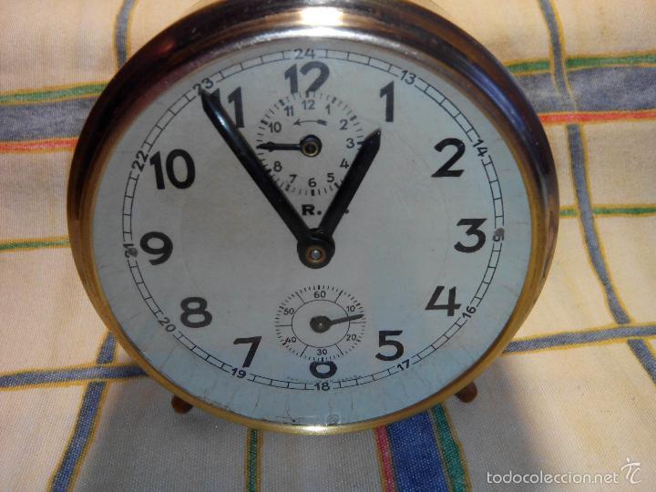 Despertadores antiguos: DESPERTADOR ESPAÑOL. AÑOS 60. FUNCIONANDO. TRATADO INTEG. (((IMPECABLE))) DESCRIP. Y FOTOS - Foto 7 - 56267630