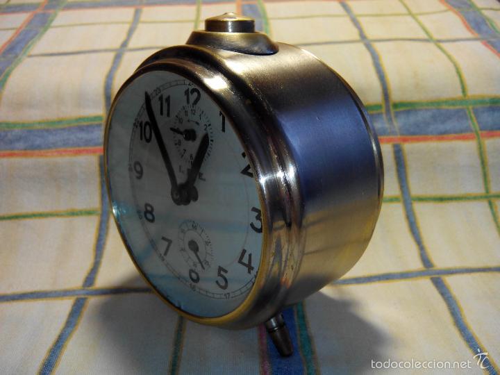 Despertadores antiguos: DESPERTADOR ESPAÑOL. AÑOS 60. FUNCIONANDO. TRATADO INTEG. (((IMPECABLE))) DESCRIP. Y FOTOS - Foto 8 - 56267630