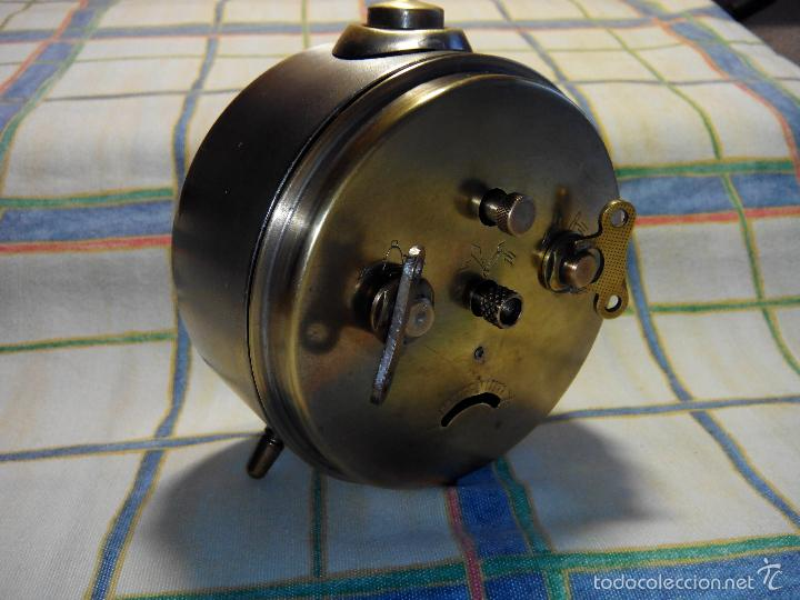 Despertadores antiguos: DESPERTADOR ESPAÑOL. AÑOS 60. FUNCIONANDO. TRATADO INTEG. (((IMPECABLE))) DESCRIP. Y FOTOS - Foto 10 - 56267630
