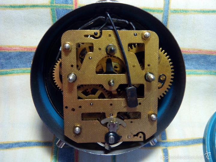 Despertadores antiguos: DESP. ESPAÑOL. META. 1.960. TESTADO AL COMPLETO. MAQUINA EXTRAOR.BELLEZA Y LIMPIEZA. FUNCIONANDO. - Foto 4 - 56287554