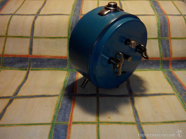 Despertadores antiguos: DESP. ESPAÑOL. META. 1.960. TESTADO AL COMPLETO. MAQUINA EXTRAOR.BELLEZA Y LIMPIEZA. FUNCIONANDO. - Foto 9 - 56287554