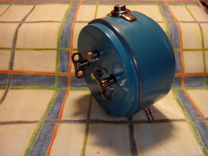 Despertadores antiguos: DESP. ESPAÑOL. META. 1.960. TESTADO AL COMPLETO. MAQUINA EXTRAOR.BELLEZA Y LIMPIEZA. FUNCIONANDO. - Foto 11 - 56287554