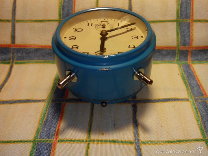 Despertadores antiguos: DESP. ESPAÑOL. META. 1.960. TESTADO AL COMPLETO. MAQUINA EXTRAOR.BELLEZA Y LIMPIEZA. FUNCIONANDO. - Foto 12 - 56287554