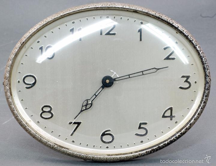 RELOJ DESPERTADOR ACERO AÑOS 30 FUNCIONA SÓLO EL RELOJ (Relojes - Relojes Despertadores)
