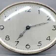 Despertadores antiguos: RELOJ DESPERTADOR ACERO AÑOS 30 FUNCIONA SÓLO EL RELOJ. Lote 56461502