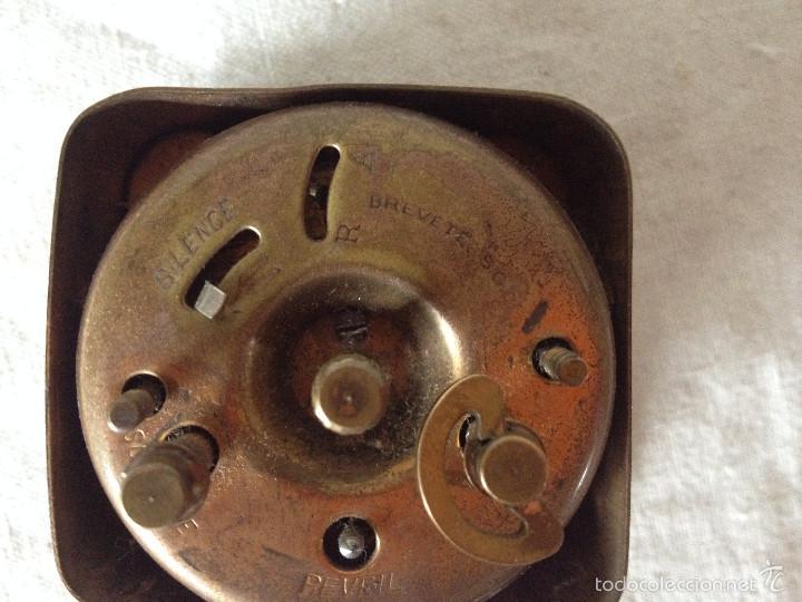 Despertadores antiguos: MÁQUINA RELOJ DESPERTADOR - Foto 7 - 56561296
