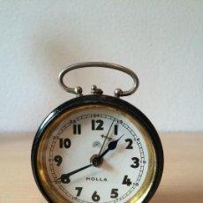 Despertadores antiguos: ANTIGUO RELOJ DESPERTADOR DE SOBREMESA. MARCA HOLLA. Lote 56669171