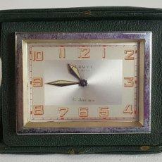 Despertadores antiguos: RE379. RELOJ DESPERTADOR DE SOBREMESA. LANCEL. PARIS. 8 JOURS. CIRCA 1960. . Lote 57615981