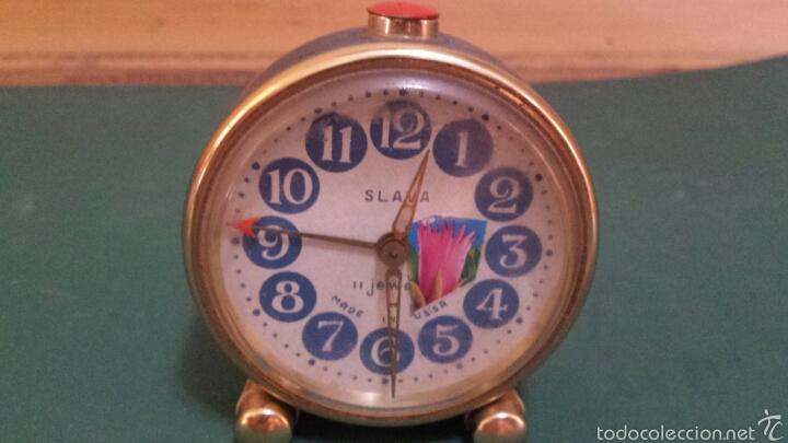 ANTIGUO RELOJ DESPERTADOR MARCA SLAVA AÑOS 60 (Relojes - Relojes Despertadores)