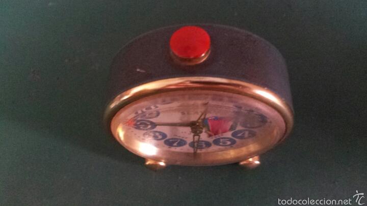 Despertadores antiguos: Antiguo Reloj despertador marca Slava años 60 - Foto 4 - 57917151
