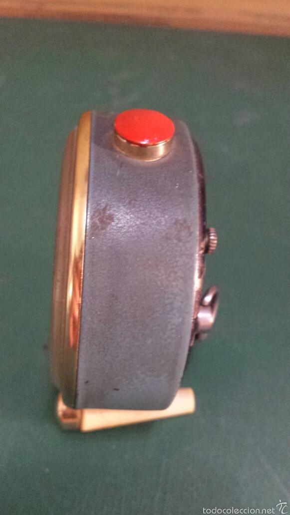 Despertadores antiguos: Antiguo Reloj despertador marca Slava años 60 - Foto 5 - 57917151