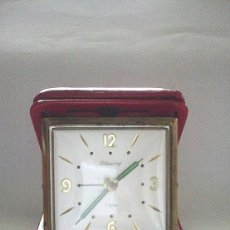 Despertadores antiguos: DESPERTADOR DE VIAJE BLESING FUNCIONANDO. Lote 57938626