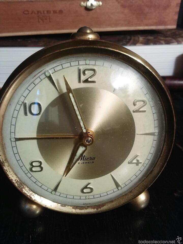 RELOJ DESPERTADOR MARCA MICRO FUNCIONANDO (Relojes - Relojes Despertadores)
