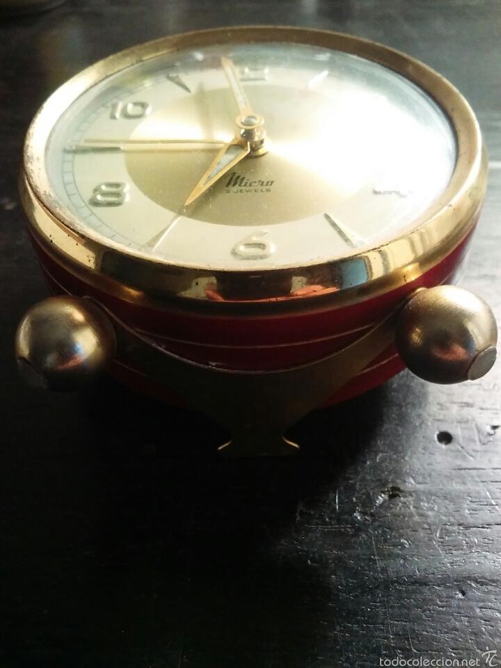 Despertadores antiguos: Reloj despertador marca Micro funcionando - Foto 3 - 58075814