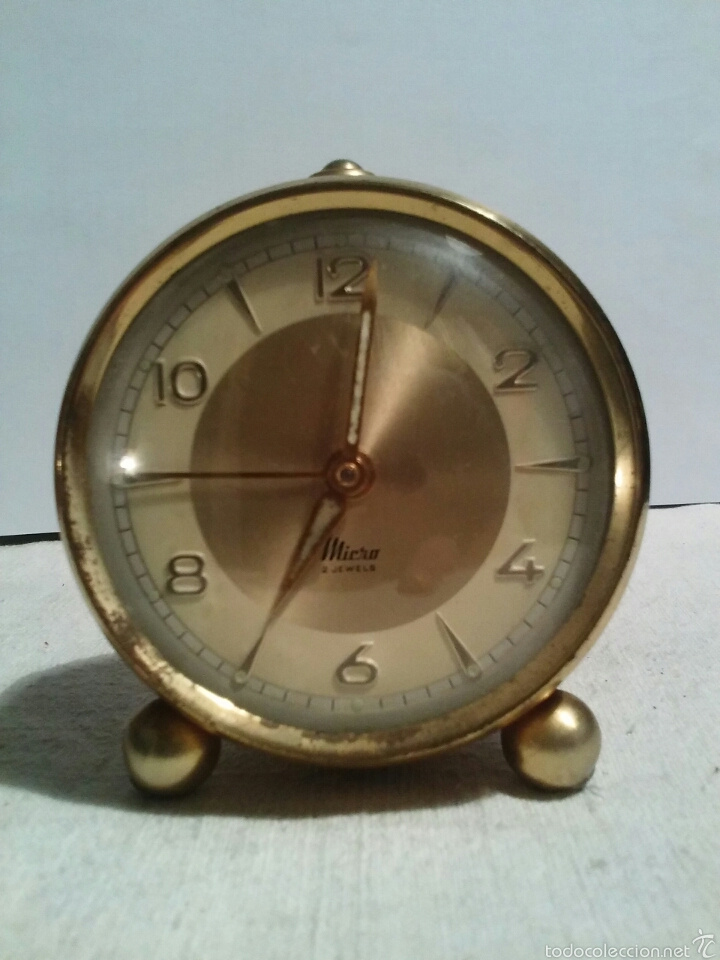 Despertadores antiguos: Reloj despertador marca Micro funcionando - Foto 8 - 58075814