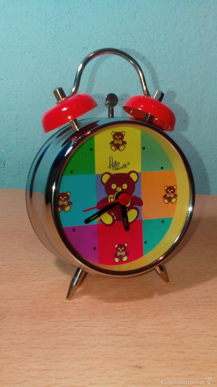 RELOJ DESPERTADOR INFANTIL HELIO FERRATTI / NUEVO A ESTRENAR (Relojes - Relojes Despertadores)