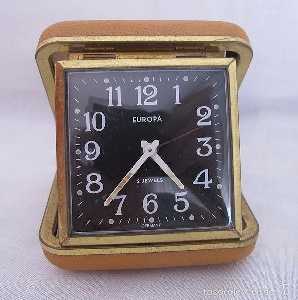 RELOJ DESPERTADOR DE VIAJE DE CUERDA AÑOS 60/70 Nº 10 (Relojes - Relojes Despertadores)