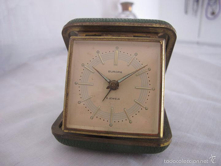 RELOJ DESPERTADOR DE VIAJE DE CUERDA AÑOS 60/70 Nº 3 (Relojes - Relojes Despertadores)