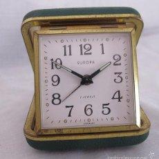 Despertadores antiguos: RELOJ DESPERTADOR DE VIAJE DE CUERDA AÑOS 60/70 Nº 6. Lote 58614847