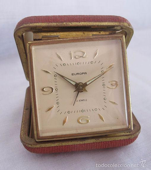 RELOJ DESPERTADOR DE VIAJE DE CUERDA AÑOS 60/70 Nº 8 (Relojes - Relojes Despertadores)