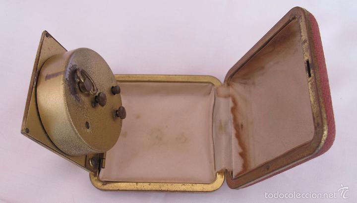 Despertadores antiguos: RELOJ DESPERTADOR DE VIAJE DE CUERDA AÑOS 60/70 Nº 8 - Foto 3 - 58614885