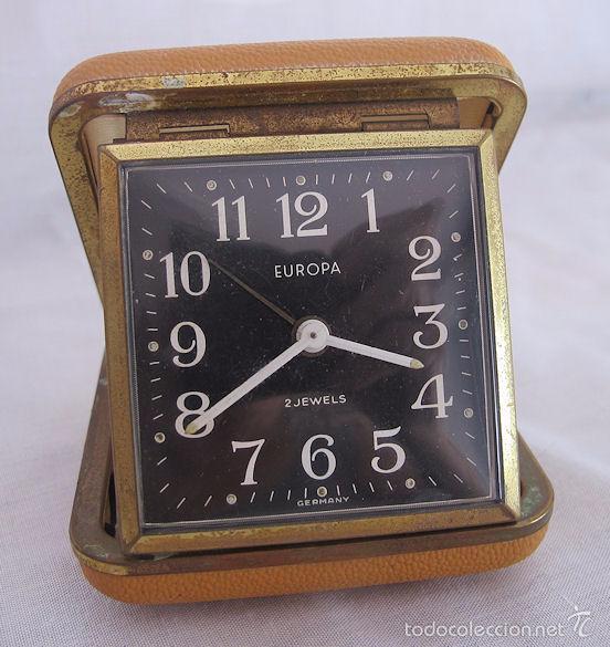 RELOJ DESPERTADOR DE VIAJE DE CUERDA AÑOS 60/70 Nº 5 (Relojes - Relojes Despertadores)