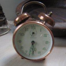 Despertadores antiguos: RELOJ DE COBRE. Lote 59543463