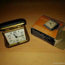 Despertadores antiguos: ANTIGUO RELOJ KIENZLE MERCEDES - CON CAJA ORIGINAL - VER FOTOS EN EL INTERIOR - FUNCIONANDO- 30/4011. Lote 60455531