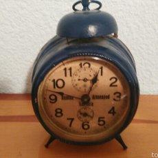 Despertadores antiguos: RELOJ DESPERTADOR ANTIGUO VALENCIANO. Lote 61028353