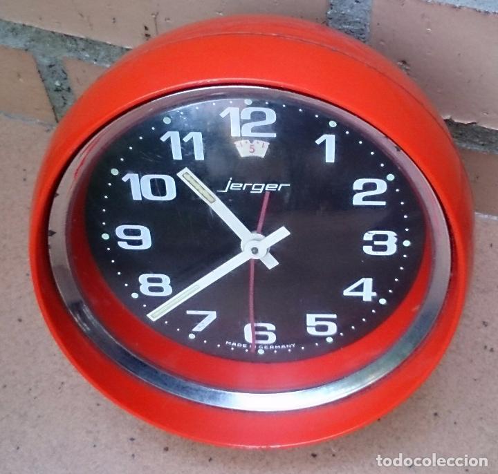 Despertadores antiguos: Reloj Jerger Made in Germany plástico años 60 - Foto 4 - 61755500