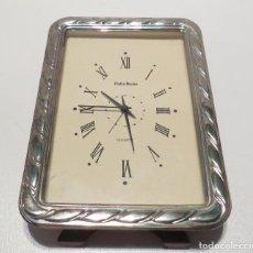 Despertadores antiguos: DESPERTADOR DE PLATA PEDRO DURAN. Lote 62209716